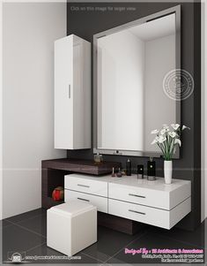 Bedroom Dressing Table Design - Table or a dressing stand is among the most important furniture in residential houses. Dressing Room Decor, Bedroom Dressing Table, Dressing Room Design, Dressing Table Mirror, Wardrobe With Dressing Table, Dressing Table Organisation, Dressing Table 2019, Dressing Table With Storage, Dressing Table Unit