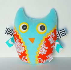 Baby Children Plush Owl Softie Stuffed by FriendsOfSocktopus, $25.00