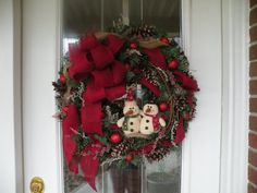 Christmas Wreath Winter Wreath Holiday Wreath by KathysWreathShop