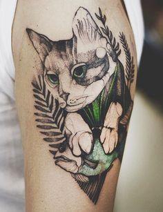 Egyszerre Cukik és Menők Ezek Az Akvarelles Hatású állatos Tetkók - Polish artist creates elegant animal tattoos finished in vibrant colours
