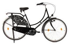 KS Cycling Damen Fahrrad Hollandrad Tussaud 3-Gänge Blütezeit, Schwarz, 28, 302H