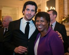 WASHINGTON DC DECEMBER 14:  Actor Rob James-Collier with Gwen Ifill of PBS  gather with a portion of the cast of 'Downton Abbey' attending a reception in their honor for the upcoming 3rd season of their successful PBS TV show at the British Ambassador's Residence in Washington DC, December 14, 2012 .(Photo by John McDonnell/The Washington Post via Getty Images) via @AOL_Lifestyle Read more…