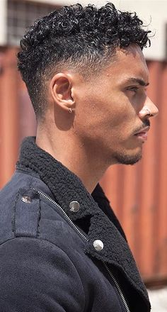 The Best Hairstyle For A Guy According To His Face Shape. Our hair is not just . Men Haircut Curly Hair, Male Haircuts Curly, Wavy Hair Men, Black Men Haircuts, Black Men Hairstyles, Curly Hair Cuts, Hairstyles Haircuts, Curly Hair Styles, Cool Hairstyles