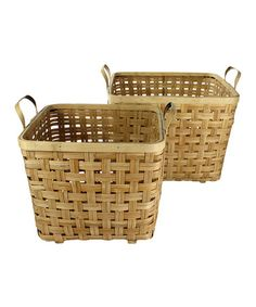 Take a look at this Tarlow Bamboo Basket - Set of Two by HomArt on #zulily today!