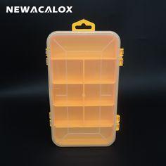 Double Boîte à Outils Électronique Pièces En Plastique Boîte À Outils Cercueil SMD SMT Vis Boîte De Rangement de Composants