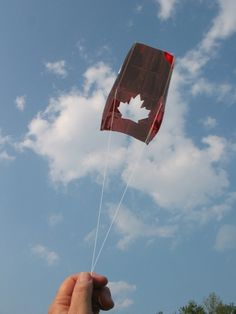 Build a Kite with a garbage bag and straws