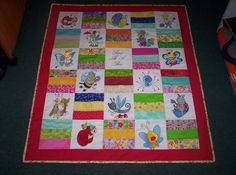 Pam made this darling quilt using designs from Snug As A Bug, Snug As A Bug Too  and Spring Bugs