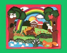 Handgefertigtes Holz-Puzzle mit wunderschönem Motiv für Kinder Woodland Creatures, Rain Bow, Gifts, Nice Asses, Reunions