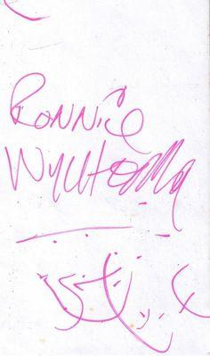 billy fury signature.