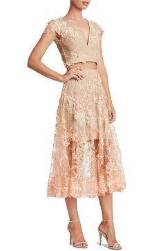 Main Image - Dress the Population Juliana Two-Piece Dress