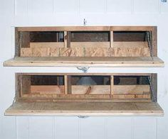 Chicken coop - nesting box with outside access.