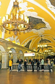 A Station of Moscow's Subway System, Russia