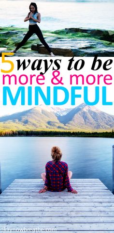 When I first started to try mindfulness, it brought a lot of anxiety. I was overthinking. Here are 5 simple ideas to practice being more mindful. Mindfulness Activities, Mindfulness Meditation, Mindfulness Practice, Mental Health Quotes, Mental Health Awareness, Anxiety Relief, Stress Relief, Coaching, Wellness