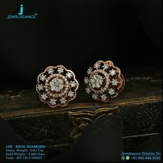 Real Diamond Luxury Design Get in touch with us on Real Diamond Earrings, Diamond Earing, Small Earrings, Stud Earrings, Diamond Jewellery, Wedding Jewelry, Gold Jewelry, Jewelery, Quartz Jewelry