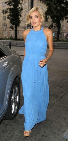 Katherine Jenkins Looks Stunning In Blue