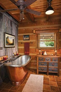 small log cabin interiors log home interior decorating ideas for well ideas about log home interiors on excellent small log cabin interior ideas Rustic Bathroom Lighting, Rustic Bathrooms, Rustic Lighting, Lighting Design, Log Cabin Bathrooms, Lodge Bathroom, Outhouse Bathroom, Lighting Ideas, Rustic Chandelier