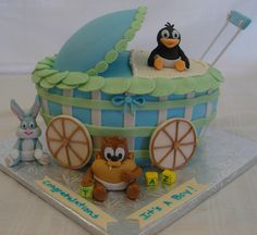 baby shower looney tunes | Baby Looney Tunes Baby Carriage Cake — Baby Shower