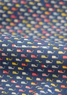 Kawaii Cotton Fabric  Mini Whale by fashionwholesale on Etsy, $2.00