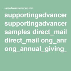 supportingadvancement.com samples direct_mail ong_annual_giving_letter.pdf