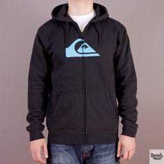 Czarna bluza rozpinana z kapturem Quiksilver Hood Zip Good H1 Black - kolekcja Fall/Winter 2014 / www.brandsplanet.pl / #quiksilver