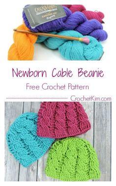 Newborn Cable Beanie