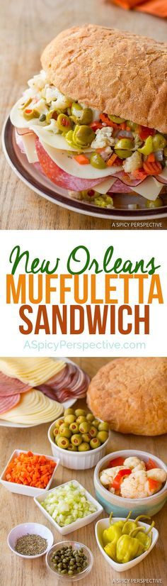 The New Orleans Muffuletta Sandwich | ASpicyPerspective.com