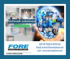 With Certified and trained professionals the FORE concentrates on creating Local / Wide Area Network Wide Area Network, Network Solutions, Cloud Computing, Electronic Devices, Gaming Computer, Wireless Network, Technology, Projects, Management