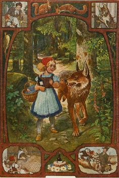 Little Red Riding Hood. The scenario unfolds.