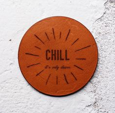 Chill gift Leather coasters Gift for homeowners Gifts for