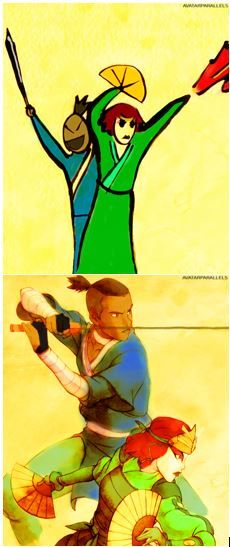 Sword and Fan! Sokka's drawing vs legend of Korra drawing. I personally love sokkas :) haha