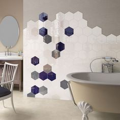Buy Porto White tiles from Porcelain Superstore. Visit our website for great deals on porcelain tiles all with 5 year guarantee. Laundry Room Decor, White Bathroom Tiles, Bathroom Wall Tile, Bathroom Floor Tiles, Bathroom Inspiration, Bathroom Makeover, Hexagon Wall Tiles, Hexagon Tiles, White Hexagon Tiles