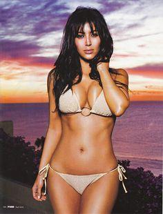 Kim Kardashian...She has the best curvy body