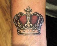 Royal King Crown Tattoos From: TattoosWin.com/