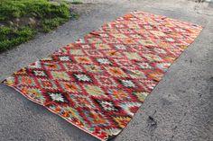 Türkischer Kelim Teppich, Vintage Kilim Teppich 118,11