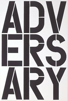 One of my favorites.      Artist: Christopher Wool