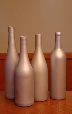 K5 Becomes A Bride | We planned an amazing wedding!: DIY: Painted Wine Bottles, Part II