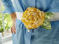 belt sewing diy | Fabric Flower Belts @ Less Than Perfect Life of Bliss