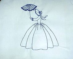 Victorian Lady Quilts Made From Handkerchiefs   MACHINE EMBROIDERY DESIGNS QUILT BLOCKS Umbrella Sunbonnets page 2