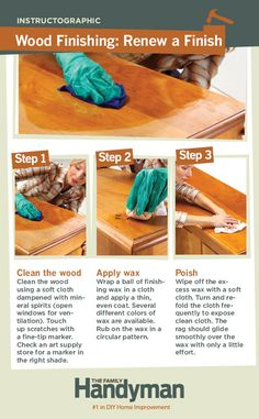 DIY Tutorial: How to Renew a Wood Finish.