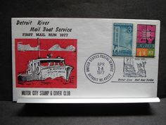 Mail Boat J. W. WESCOTT II Naval Cover 1977 Cachet Detroit, Mich