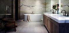 décoration salle de bain en marbre