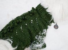 """Mia & Maddie Designs: Freebie: """"Leaf Dog Sweater""""."""