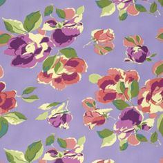 Amy Butler - Bright Heart Sateen - Natural Beauty in Violet