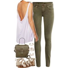 Outfit with khaki trousers