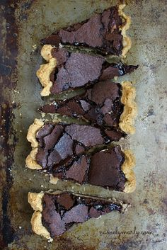 Gluten-free Chocolate Brown Pie with Peanut Butter Cheesecake