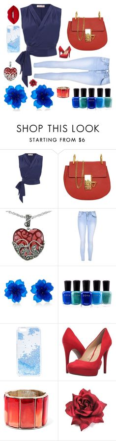 """! ! !"" by the-pink-poppy on Polyvore featuring Chloé, Lord & Taylor, Glamorous, Zoya, Skinnydip, Jessica Simpson, Oscar de la Renta and Lime Crime"