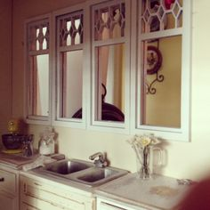 Kitchen windows 1:12 by It's a miniature life...is playing with clay, via Flickr