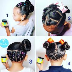 1, 2 , 3 , or 4 ? Baby Girl Hairstyles, Braided Hairstyles, Toddler Hairstyles, Natural Hairstyles For Kids, Natural Hair Styles, Biracial Hair Care, More Fun, Girl Outfits, Braids