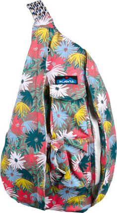 KAVU Rope Bag (Island Bloom)  So need to get one of these!  Perfect for camping trips!