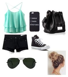 """""""Chill day"""" by breannpollard on Polyvore featuring rag & bone/JEAN, Converse and Ray-Ban"""